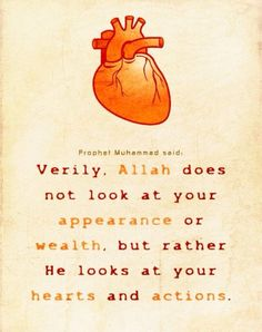 Hadith allah looks at your hearts and actions