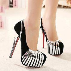 sapatos femininos bombas de lã toe stiletto calcanhar rodada vestir sapatos mais cores disponíveis – BRL R$ 119,67