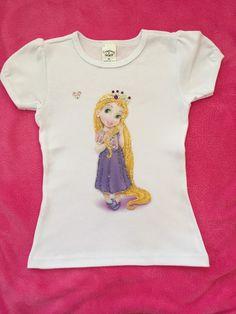 Disney personalized toddler princess Rapunzel shirt for girls.