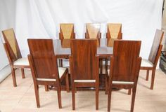 Art Deco Dining Set Table and Chairs Suite 1920s Furniture Tables | eBay