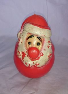 Vintage Santa Clause wobble toy with chime inside in Collectibles, Holiday & Seasonal, Christmas: Modern (1946-90)   eBay