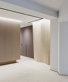 NIDO interiors - UL_Y project 2016 Minimalist Interior, Modern Interior, Interior Design, Lobby Interior, Interior Walls, Hospital Architecture, Interior Architecture, Wall Design, House Design