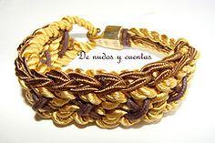 Pulsera con cordones de seda (De nudos y cuentas) Tags: metal knot amarillo seda cordn pulsera braid nudo cadena trenza algodn encerado soutache