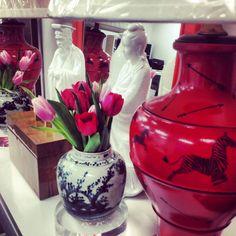 Fresh Tulips at Parker Kennedy Living's Atlanta design studio