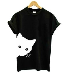 Women Blouse Sale Shirts Women Cat Printing Round Neck Long Sleeve Casual Blouse Sweatshirt Top Halloween Christmas Best Gift for Your Lover UK Size S-5XL