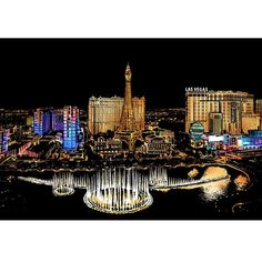 Las Vegas - Scratch Art Kit – Colour Scratch Kratz Kunst, Paris At Night, Scratch Art, Stick Art, Sketch Pad, Cross Paintings, Painted Paper, Creative Kids, Love Art