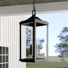 Charleston 3 -Bulb H Outdoor Hanging Lantern Outdoor Light Fixtures, Outdoor Lighting, Club Lighting, House Lighting, Lighting System, Lighting Ideas, Hanging Candle Lanterns, Hanging Lights, Home Lighting Design