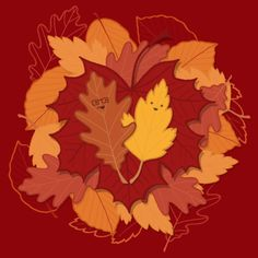 Fall in Love #chayground #geek #tshirt #love #autumn #leaf #fall #Valentines