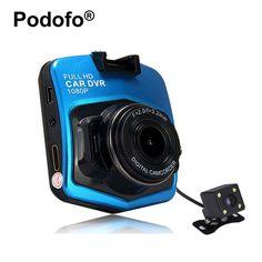 Original Novatek Dash Cam GT300 Dual Lens Car DVRs Camera Full HD 1080P Video Registrar With Backup Rearview Parking Recorder