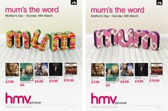 HMV Mother's Day Campaign