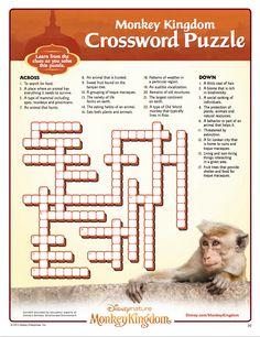 Monkey Kingdom Crossword Puzzle