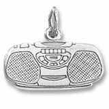 Boom Box Charm $29.50 http://www.charmnjewelry.com/category/sterling_silver/Music_and_Dance_Charms.htm #CharmnJewelry
