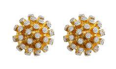 Sea Urchin Diamond Earrings by VIVAAN; MSRP: $2,850