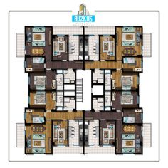 BUZKUŞ MİMARLIK - FLOORPLAN - KAT PLANI Commercial Building Plans, Architectural Floor Plans, School Plan, Apartment Layout, Decoration, Flooring, How To Plan, Projects, House