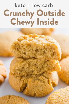 Recipes For 2 These 3 ingredient peanut butter keto cookies are soft and chewy, plus super easy, gluten free, low carb and healthy. Made with almond flour and coconut flour, these keto cookies are sweetened with stevia and erythritol. Keto Cookies, Keto Peanut Butter Cookies, Best Peanut Butter, Coconut Flour Cookies, Sugar Free Cookies, Low Carb Peanutbutter Cookies, Low Carb Chocolate Chip Cookies, Cookies Kids, Keto Cookie Dough