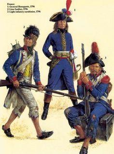 Fuciliere della linea, generale Bonaparte e carabiniere della fanteria leggera