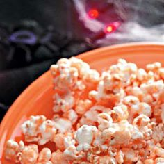 Goblin's Orange Popcorn Recipe from Taste of Home