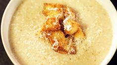 Clinton Kelly's Roasted Cauliflower Soup with Parmesan Croutons