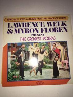 LAWRENCE WELK & MYRON FLOREN 24 GREATEST POLKAS 2LP 1975 STEREO MINT!! RARE