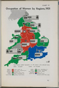 1945: Women in the workplace An Isotype map, 'world language without words' according to Isotype's creator Otto Neurath, here encouraging British women to stay in the workplace post-1945  Photograph: Private Collection of Tim Bryars