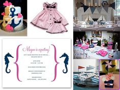 Enchanted Expectations: Girl Nautical Baby Shower-Pink and Navy