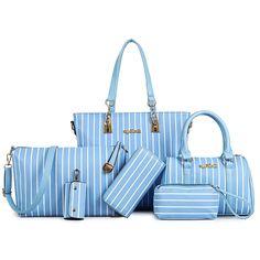 $34.19 (Watch more - https://alitems.com/g/1e8d114494b01f4c715516525dc3e8/?i=5&ulp=https%3A%2F%2Fwww.aliexpress.com%2Fitem%2F6-Bags-Set-Streak-Women-Bag-Stone-Women-Handbag-Pu-Leather-Shoulder-Bag-Women-Messenger-Bags%2F32691552600.html) 6 pieces / Set Streak Women Bag Stone Women Handbag Pu Leather Shoulder Bag Women Messenger Bags Fresh Lady Day Clutch Tote Bags