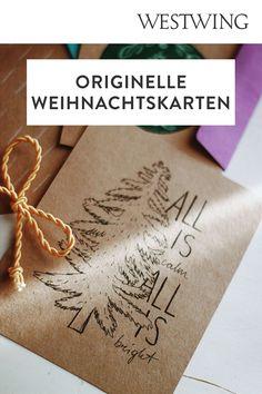 In der Vorweihnachtszeit gehört das Verpacken der Geschenke zu unserer absoluten Lieblingsbeschäftigung. Aber nicht nur das Kleben, Binden und Stempeln auf Geschenkpapier macht uns große Freude. Denn auch außergewöhnliche Weihnachtskarten basteln steht bei uns ganz oben auf der To-Do-Liste!/Westwing Weihnachtskarte selber basteln gestalten mit Kindern modern kreativ einfach Tannenbaum christmas card DIY xmas 2021 new year aquarell ideas design kids Weihnachten Advent Diy Xmas, Advent, Design, Accessories, Present Wrapping, Stamping, Christmas Decorations, Glee