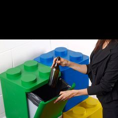Reduce, reuse, recycle, Lego!!!    this would also be a cool place to hold toys....like legos
