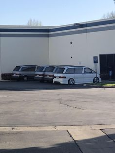 One of the businesses at the complex I work at has a fleet of Toyota Previas. Toyota Previa, Pets, Business, Car, Funny, Automobile, Funny Parenting, Store, Business Illustration