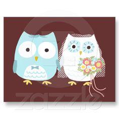 owl card for wedding