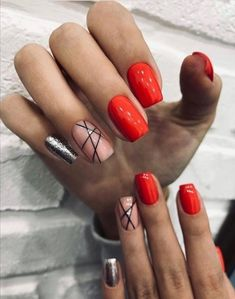 You are in the right place about nails sencillas Here we offer you the most beautiful pictures about the nails you are looking for. Nail Manicure, Gel Nails, Acrylic Nails, Nail Polish, Dark Nails, Dream Nails, Love Nails, Stylish Nails, Trendy Nails