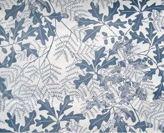 Oakleaf  | Marthe Armitage Hand Printed Wallpaper Designs via http://hamiltonweston.com