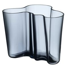 """iittala Aalto Rain Vases Cool, calm and comforting; the 2014 iittala glass color """"Rain"""" is one of humble beauty. A moody grey with undertones of steel blue, it is the color of both an icy pond in winter and a quiet summer stor. Alvar Aalto, Vase Cristal, Scandinavian Interior Design, Scandinavian Style, Luminaire Design, Vases Decor, One Design, Decoration, Timeless Design"""