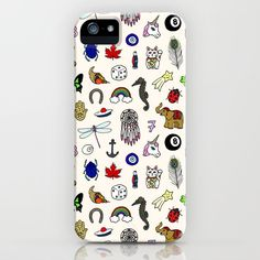 Lucky charms iPhone Case by laurafrere Lucky Charm, Graphic, Illustration, Charms, Iphone Cases, Patterns, Pattern, Drawing Drawing, Block Prints