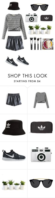 """""""New York"""" by lclewis ❤ liked on Polyvore featuring WithChic, adidas Originals, NIKE, Holga, Smoke & Mirrors, TrickyTrend and culottes"""
