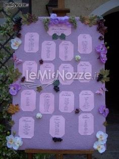 http://www.lemienozze.it/operatori-matrimonio/luoghi_per_il_ricevimento/cascina_la_lodovica/media/foto/24  Tableau di matrimonio sul lilla
