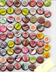 Vintage Set of 60 Bottle Caps Used Most have Cork Bottoms, Soda, Pop, Beer, Assemblage, Alterd Art, Collectibles, Art, Supplie, Craft, on Etsy, £7.19