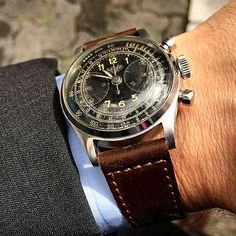 Heuer 40's Military Chronograph For Sale tokyovintagewatchcollector@gmail.com
