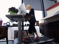 A modern, sedentary lifestyle has concerned researchers hard at work - and it's prompted others to step aboard treadmill desks, where they work for hours at a time. Mo Rocca tries to keep up. Home Office Design, Home Office Decor, Mo Rocca, Treadmill Desk, Workplace Wellness, Sedentary Lifestyle, Home Office Organization, Wellness Fitness, Best Tv Shows