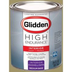 Glidden High Endurance, Interior Paint and Primer, Spring Awakening, # 50YY 34/250, Eggshell, Quart