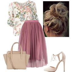 A fashion look from June 2016 by kaylabrown876 featuring Billie & Blossom, Charlotte Russe and Salvatore Ferragamo