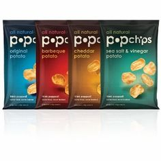 Four assorted popchips flavors flavors pk24