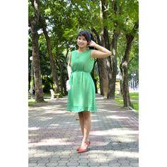 Layoo VVSU04 - Váy voan suôn xanh lá