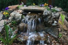 Browse our gallery of Pondless Waterfalls built for customers throughout the Dallas - Fort Worth Metroplex. Backyard Water Fountains, Backyard Water Feature, Water Pond, Ponds Backyard, Backyard Waterfalls, Outdoor Fountains, Stone Fountains, Garden Ponds, Backyard Ideas