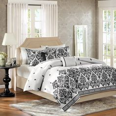 Home Essence Melina Black 5-Piece Comforter Set - Walmart.com
