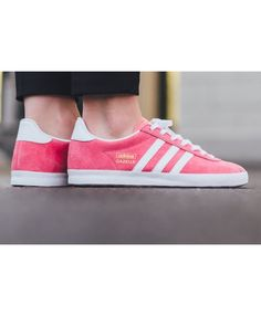 this Adidas Gazelle OG Lush Pink White Metallic Gold Trainer is popular by young people