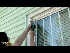 How to Caulk Windows For Dummies. Caulk windows to prevent drafts, to save energy, and to keep moisture from rotting the wooden window parts. This video shows the tools and step instructions you need to caulk around windows to get a clean, air-tight seal.  Use Window and door caulking, a hanger, plastic  spoon, caulking gun, utility knife, scraper