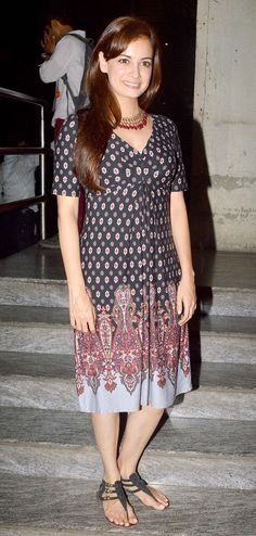 Dia Mirza at a screening of 'Bobby Jasoos'. #Style #Bollywood #Fashion #Beauty