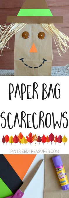 Who knew scarecrows could be so cute?! Your kids will LOVE making these paper bag scarecrows! It's a fun, simple fall craft that parents, teachers and kids love!