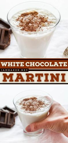 This White Chocolate Martini packs a punch! It's a summer cocktail recipe that is more of a dessert than anything. Top this alcoholic drink for summer with dark chocolate shavings for a more festive look! Save this pin. White Chocolate Martini Recipe, White Chocolate Liqueur, Chocolate Syrup, Easy Drink Recipes, Martini Recipes, Cocktail Recipes, Dessert Drinks, Desserts, Chocolate Shavings